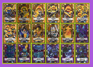 LEGO-NEXO-KNIGHTS-SERIE-2-Trading-Card-Game-AUSWAHLEN-LE1-LE18-GOLD