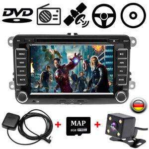 2DIN-7-034-Autoradio-GPS-NAVI-CD-DVD-FM-fuer-VW-Golf-Passat-B6-3C-Touran-Skoda-Seat