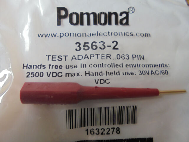 RED POMONA 3563-2 BANANA JACK TO 16AWG PIN 10 pieces 13A