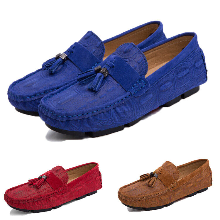Mens Fringe Casual Driving shoes Oxfords No-slip On Loafers Moccasin shoes size