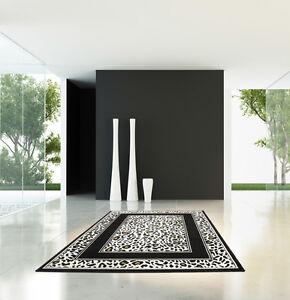 Tapis-Modernes-a-Poils-Ras-Design-Neuf-Emballage-D-039-Origine-Soldes-Leo-en-160x230