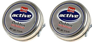 2-x-Punch-Active-Dubbin-Neutral-Tin-Waterproofs-Leather-Shoe-Boot-Care-Wax-50ml