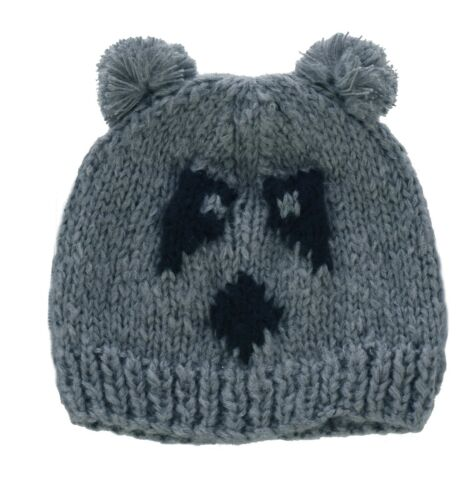 1 Crochet Hand Crafted Girls Ladies Knit Animal costume Party PANDA Hat Beanie