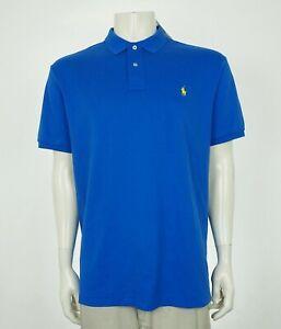 New-Polo-Ralph-Lauren-Royal-Blue-Soft-Cotton-Polo-Shirt-Mens-Sz-XL
