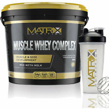 MUSCLE WHEY COMPLEX - PROTEIN SHAKE - ALL FLAVOURS ALL SIZES BY MATRIX NUTRITION