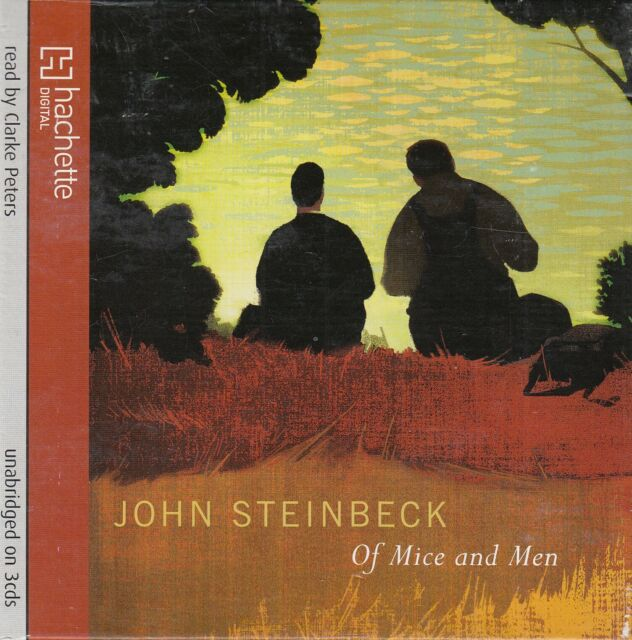 Of Mice and Men John Steinbeck 3CD Audio Book Unabridged Clarke Peters FASTPOST