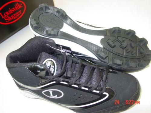 NIB NWT Mens Louisville Slugger Cleats Athletic Sport Black White Action Shoes