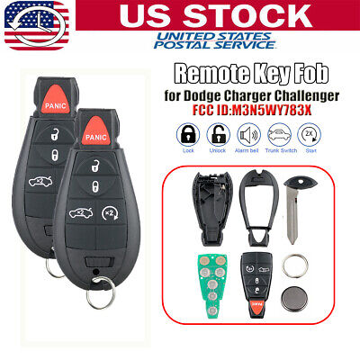 6btn New Car Ignition Key Fob Keyless Entry Remote Replacement for Fobik Trunk