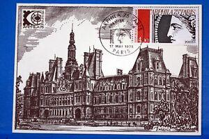 PARIS ARPHILA 75 HOTEL DE VILLE FRANCE CPA Carte Postale Maximum Yt 1833 - France - Type d'oblitération: De 1er jour d'émission Pays de fabrication: France - France
