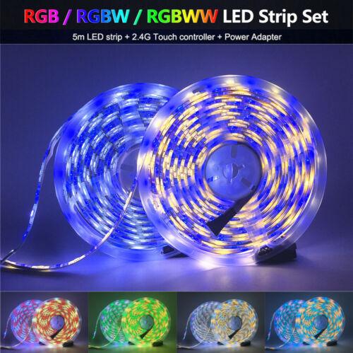 Waterproof 5m 5050 5054 SMD LED Strip Light Flexible RGB white tape 12V Car Home