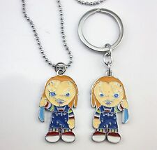 """Child's Play Movie """"Chucky"""" Necklace & Keychain Worthy Of Collection Great Gift"""