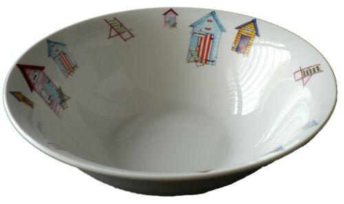 Beach Hut pattern design 22cm ceramic salad bowl