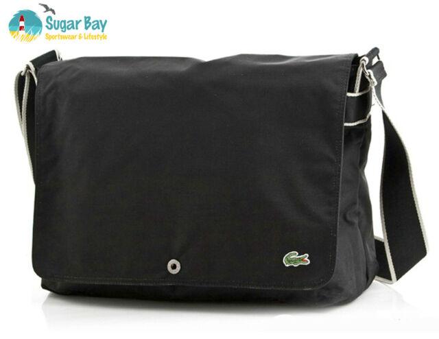 969fd513f LACOSTE MESSENGER Unisex Shoulder Bag New City Casual 7 Black AUTHENTIC