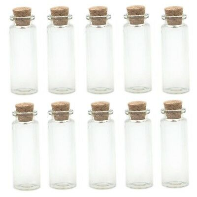 Glass Vial Pendants Small Glass Bottles Green Glass Vials Tiny Glass Vials Rounded Bottle Vials with Corks Corked Vials 10pcs