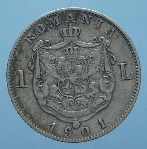 ROMANIA-RARO-1-LEU-1901