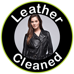 LEATHER  DRY CLEANING WINDOW SIGN STICKER