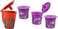 Keurig 2.0 Refillable Orange K-carafe 3 Purple K-cups Coffee Filter Packs Bundle