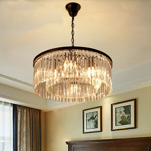 Rhys clear glass prism round chandelier e14 k9 crystal lighting image is loading rhys clear glass prism round chandelier e14 k9 aloadofball Gallery