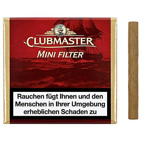 Clubmaster Mini Filter Red ( Vanilla ) 20  Zigarillos