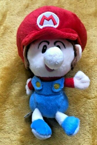 "Super Mario Peluche Teddy-Baby Mario Jouet Doux-TAILLE 6/""//15 cm NEUF"