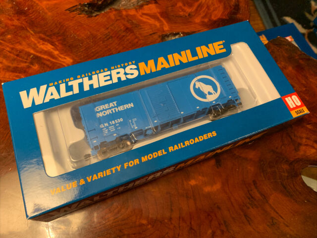 Walthers # 1165 40' (AAR) Modernized 1948 Boxcar Great Northern #18887 HO MIB