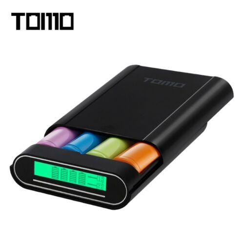 TOMO M4 DIY Smart Power Bank 4 x 18650 Li-ion Battery Charger LCD Display Screen
