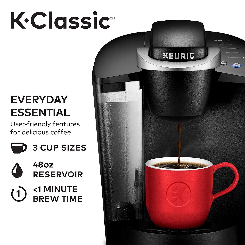 Nouveau Keurig K55 K-Classic Single servir programmable K-Cup Pod Cafetière Noir