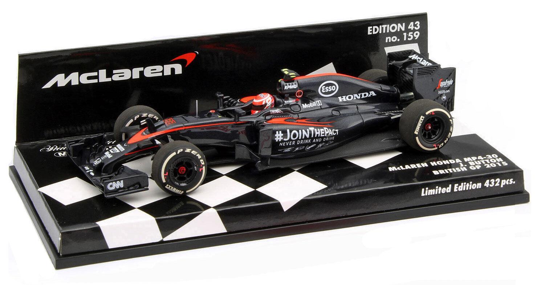 Minichamps MCLAREN HONDA mp4-30   22 BRITISH GP 2015-Jenson Button scala 1/43