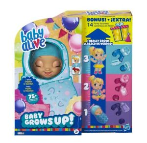 Baby Alive Baby Grows Up Happy Hope or Merry Meadow Growing Doll +14 BONUS Items