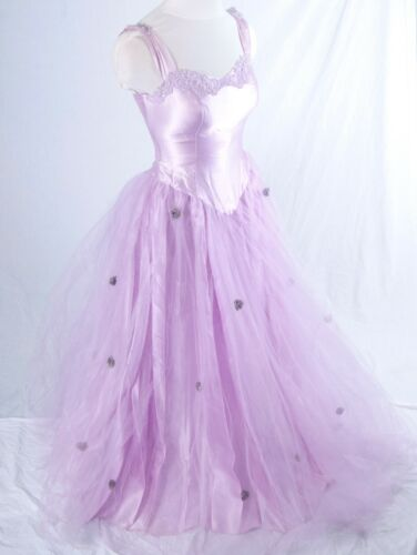 Lavender Tulle Formal Ball Gown Bustle Princess C… - image 1
