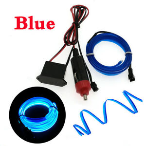 Flexible-Neon-LED-Light-Glow-EL-Wire-String-Strip-Rope-Tube-Car-with-Battery-Box