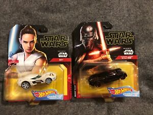 Star Wars Hot Wheels Rise Of Skywalker Rey Supreme Leader Kylo Ren Cars Sealed Ebay