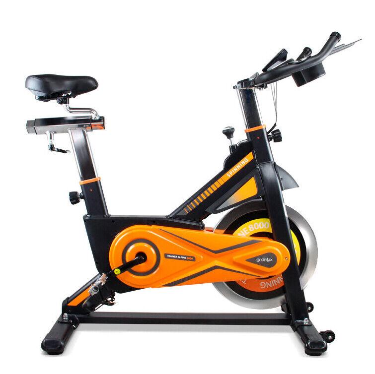Bicicleta Spinning estática 25KG Pulsómetro Monitor LCD ALPINE 8000 Gridinlux