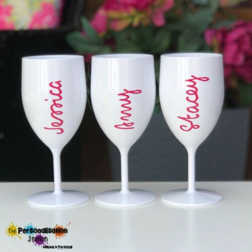 Island Plastic Wine Glass Holiday Love Our Personalised Named Party,