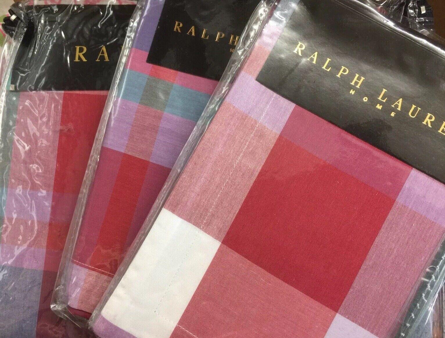 Ralph Lauren MADRAS MULTI PERCALE Duvet Cover Set KING