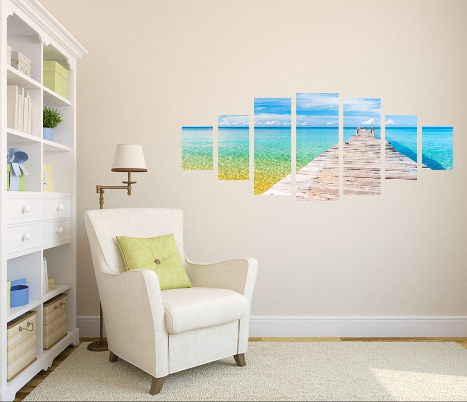 3D Bridge Sea 784 Unframed Print Wall Paper Decal Wall Deco Indoor AJ Wall Jenny
