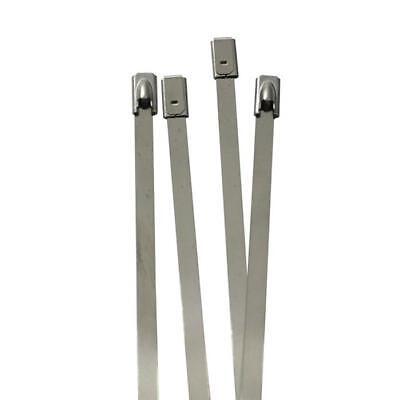 Frank 10x Edelstahl Kabelbinder 300 X 4,6mm ; Metall Bis 500°c 46kg Zugfestigkeit