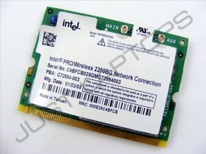 INTEL CORPORATION PRO WIRELESS 2200BG DRIVERS FOR WINDOWS XP