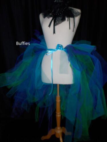 Girls child/'s dancer Bustle Fairy Festival Rave Rainbow Multi /& other Colours ~