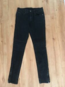 Ladies-Black-Denim-ONE-TRU-LUV-Jeans-Size-Large-12-Skinny-Mid-Rise