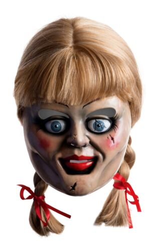 Deluxe ANNABELLE Mask Wig The Conjuring Doll Fancy Dress Horror Halloween Film