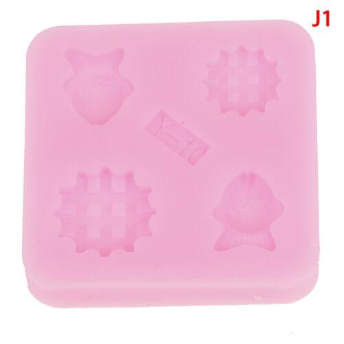 Gemstone Mold Silicone Mold Miniature Food Sweets Jewelry Charms Polishing`Epoxy