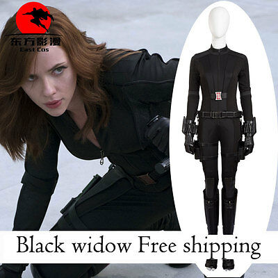 The Avengers Black Widow Captain America Movie Costume Made Cosplay Costume