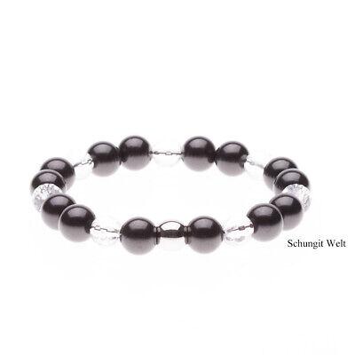 Echter Shungit 8 mm Kugeln Edelsteine Strang Perlen Top Qualität