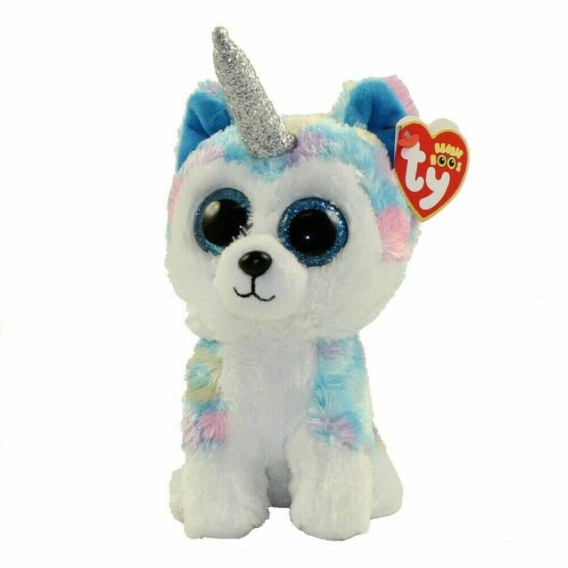 "2018 Ty Beanie Boos 6/"" HEATHER Unicorn Cat Stuffed Animal Plush w// Ty Heart Tags"
