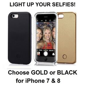 separation shoes fcbe8 f1e16 Details about Casu Selfie Light Case Instagram Facebook for iPhone 7 & 8  Gold or Black