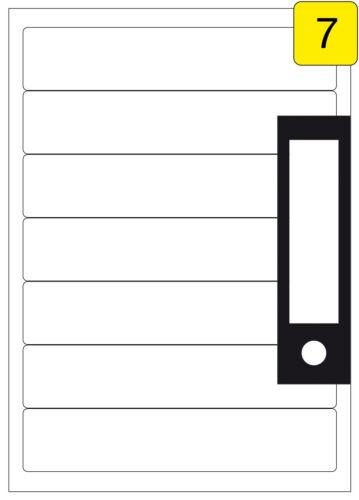 ETIKETTEN 100 Blatt Ordnerrücken 192,5 x 39 mm oder 192,5 x 62 mm weiß