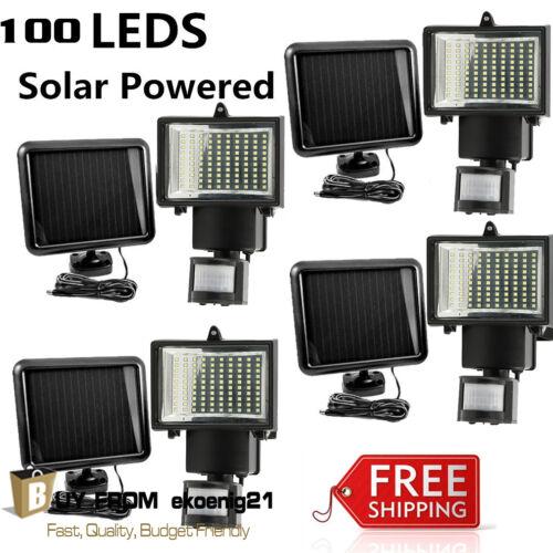 4 PACK 100 SMD LEDs Outdoor Solar Motion Sensor Security Flood Light Spot 80 100