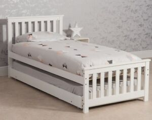 3FT-Single-Wooden-wood-bed-Sleepover-with-Trundle-2-in-1-Extra-Optional-Mattress