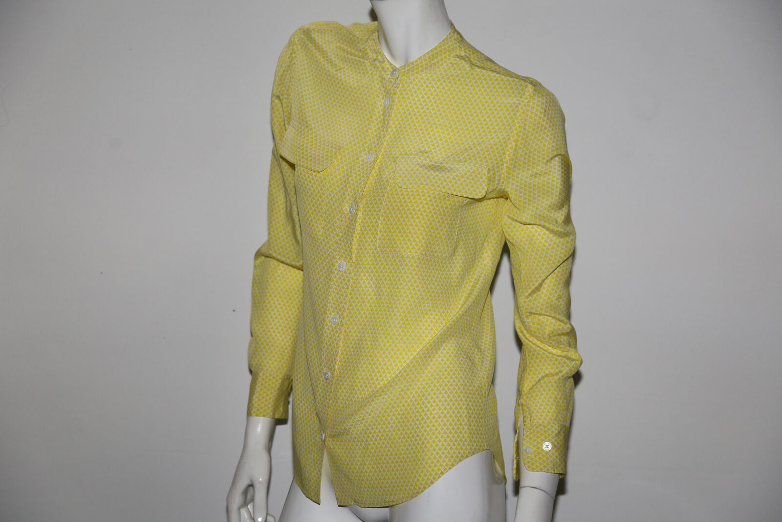 EQUIPMENT FEMME Gelb Silk Button Down Shirt Blouse Größe S